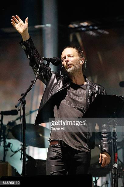 Thom Yorke of Radiohead performs during the 2016 Austin City Limits Music Festival second weekend at Zilker Park on October 7 2016 in Austin Texas