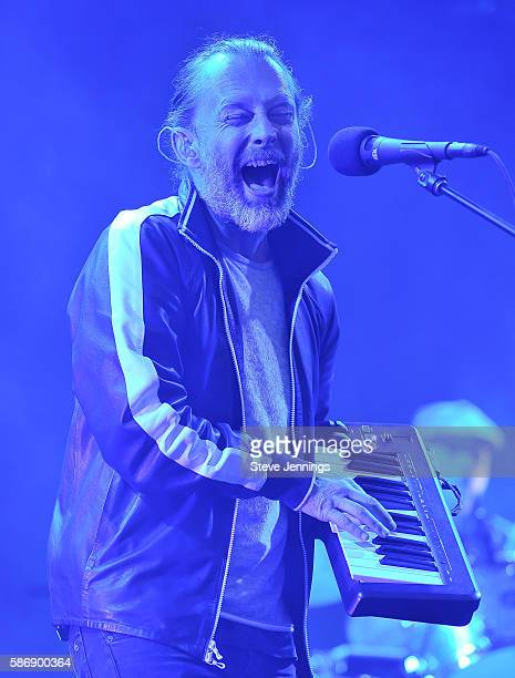 Thom Yorke of Radiohead performs on Day 2 of Outside Lands Music and Arts Festival at Golden Gate Park on August 6 2016 in San Francisco California