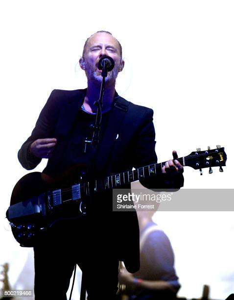 Thom Yorke of Radiohead performs on day 2 of the Glastonbury Festival 2017 at Worthy Farm Pilton on June 23 2017 in Glastonbury England