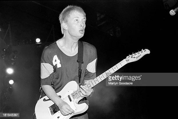 Thom Yorke of Radiohead performs on stage UK 1995