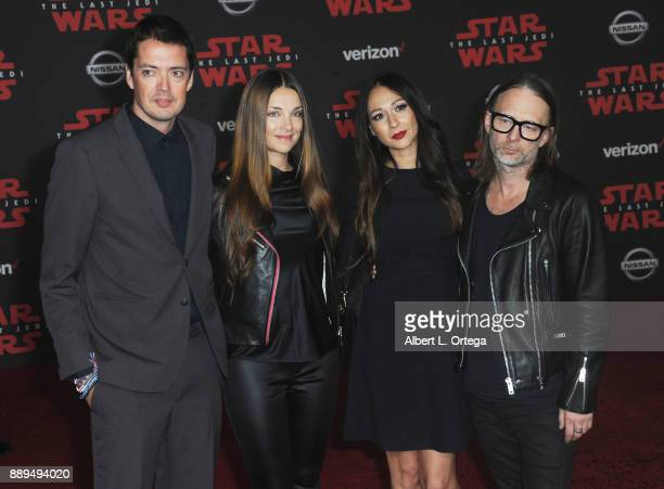 Thom Yorke of Radiohead with guests arrive for the Premiere Of Disney Pictures And Lucasfilm's 'Star Wars The Last Jedi' held at The Shrine...