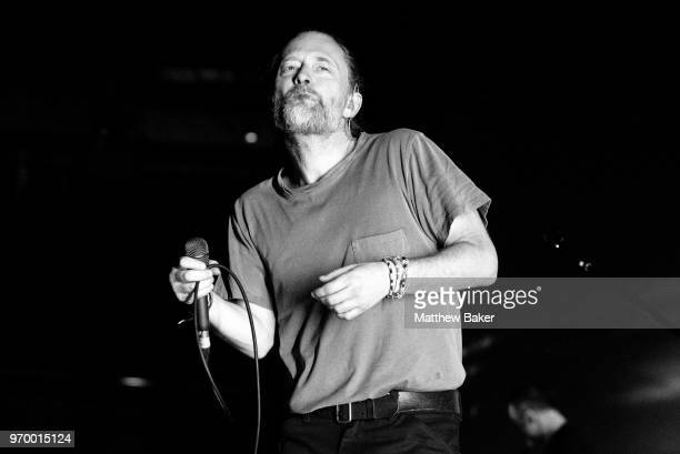 Thom Yorke performs live on stage at The Roundhouse on June 8 2018 in London England