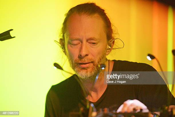 Thom Yorke performs on day 3 of Latitude Festival at Henham Park Estate on July 18 2015 in Southwold England