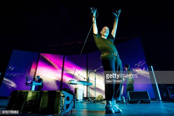 Thom Yorke performs on stage during day 3 of Sonar Festival on June 16 2018 in Barcelona Spain