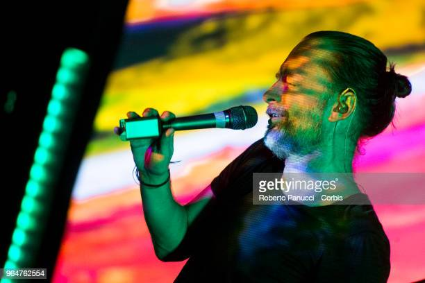 Thom Yorke performs on stage on May 28 2018 in Florence Italy