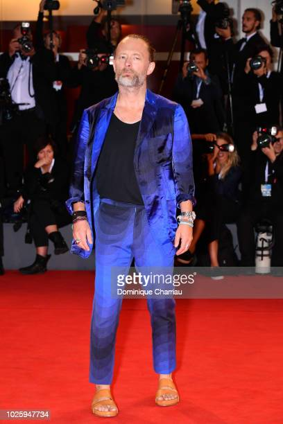 Thom Yorke walks the red carpet ahead of the 'Suspiria' screening during the 75th Venice Film Festival at Sala Grande on September 1 2018 in Venice...