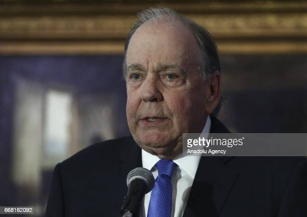 Thomas A Demetrio and Stephen L Golan lawyers of David Dao who was dragged off the plane after United Airlines' overbook application sold a ticket to...