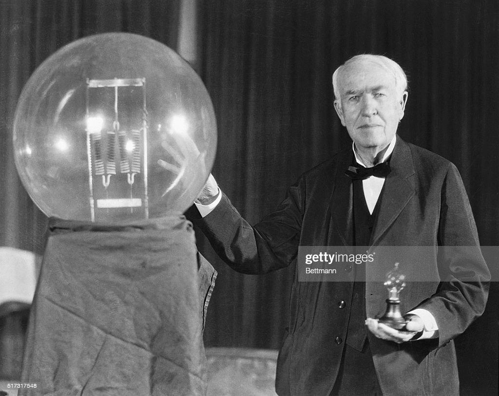 Thomas Edison Exhibits First Successful Incandescent Lamp Pictures ... for Incandescent Light Bulb Thomas Edison  156eri