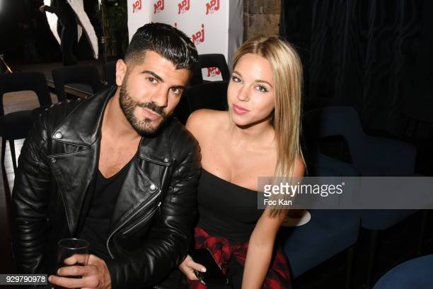 Thomas Adamandopoulos and Maddy Burciaga attend 'Les Anges10' Photocall at Espace Angie on March 9 2018 in Paris France