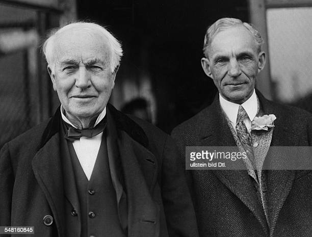 Thomas Alva Edison *11021847 USAmerican inventor and businessman with industrialist Henry Ford