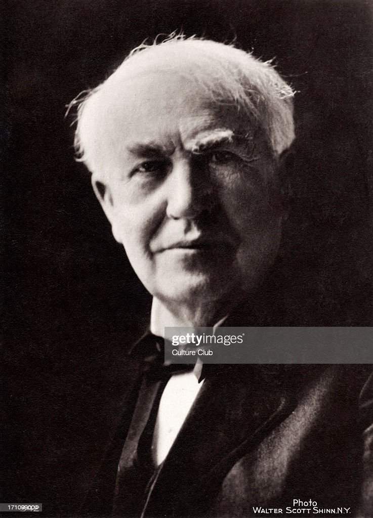 Thomas Alva Edison - engraving from 1929 - American inventor, engineer and manufacturer : News Photo