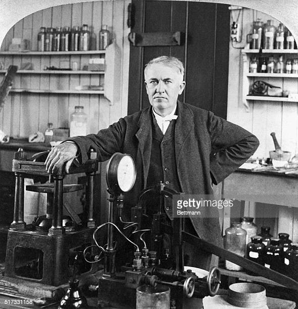 Thomas Alva Edison in his laboratory East Orange New Jersey Photograph 1901