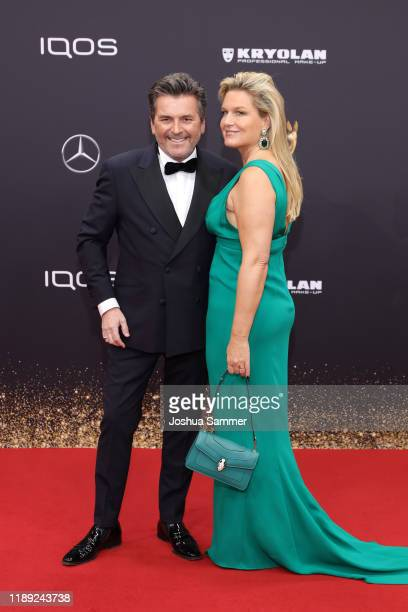 Thomas Anders and Claudia Hess attend the 71st Bambi Awards at Festspielhaus BadenBaden on November 21 2019 in BadenBaden Germany
