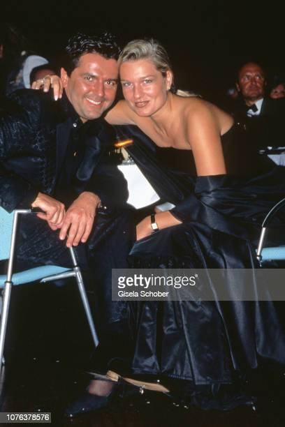 Thomas Anders and Claudia Hess attend the 'Ball der Sterne' in 1998 in Mannheim Germany