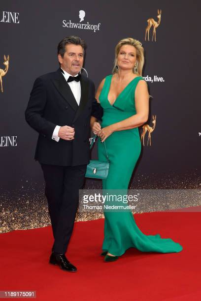Thomas Anders and his wife Claudia Hess attend the 71st Bambi Awards at Festspielhaus BadenBaden on November 21 2019 in BadenBaden Germany