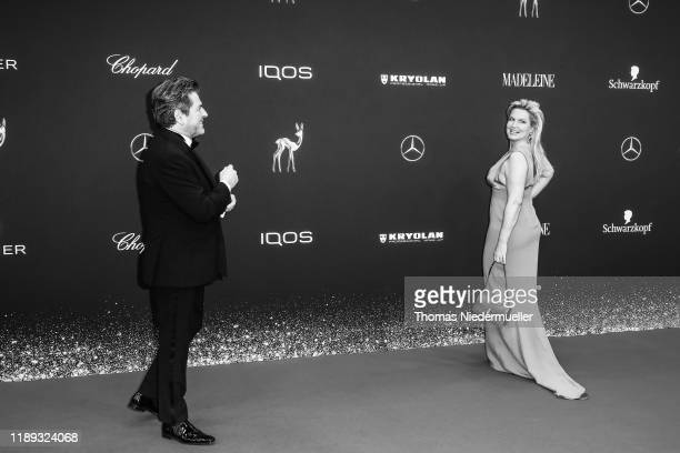 Thomas Anders and his wife Claudia Hess attends the 71tst Bambi Awards at Festspielhaus BadenBaden on November 21 2019 in BadenBaden Germany