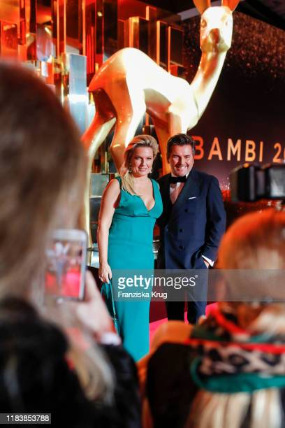 Thomas Anders and his wife Claudia Hess during the MercedesBenz AG at BAMBI 2019 at Festspielhaus BadenBaden on November 21 2019 in BadenBaden Germany
