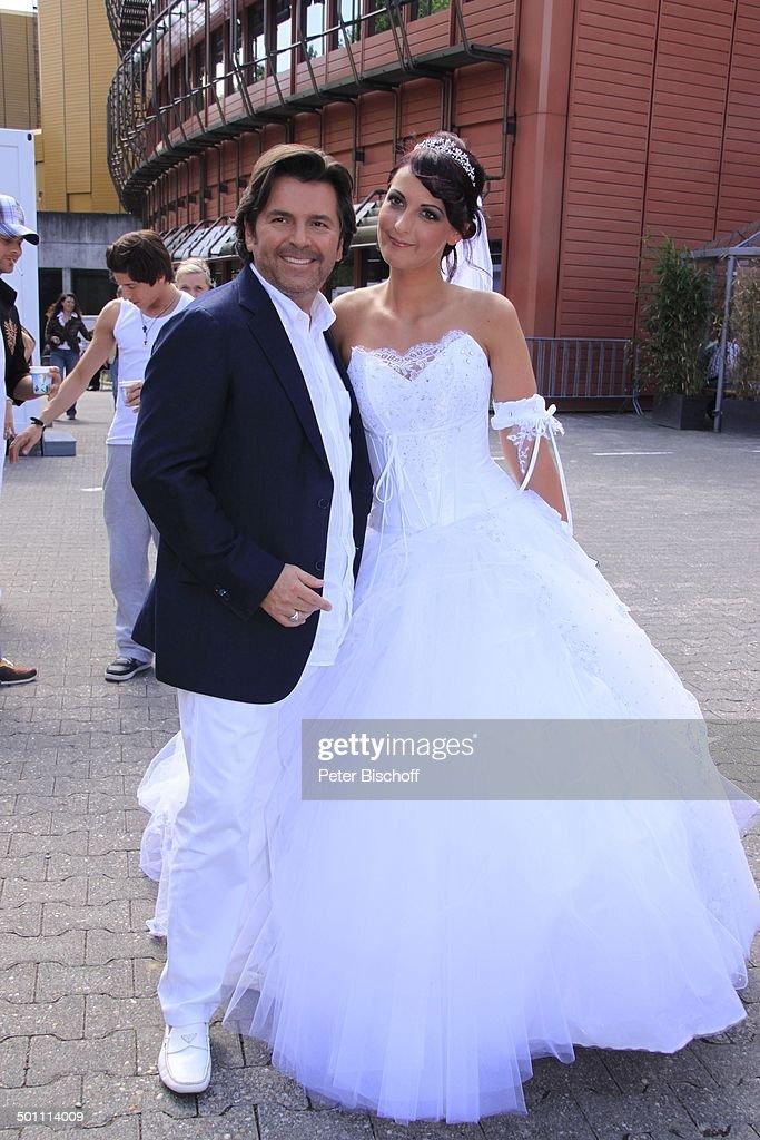 Thomas Anders, Braut-Model, ZDF-Sonntags-Show \'Fernsehgarten\', Mainz ...