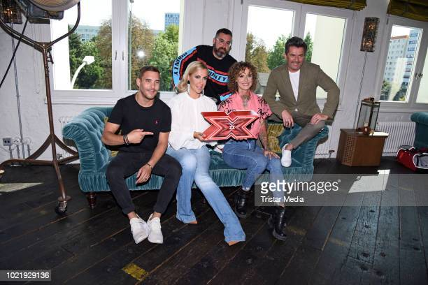 Thomas Anders, Charlotte Wuerdig, Jennifer Weist, Ignacio Uriarte of the band Lions Head and Paul Wuerdig alias Sido during the X Factor press talk...