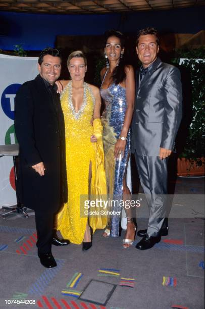 Thomas Anders Dieter Bohlen Nadja Abd el Farrag and Claudia Hess attend World Music Award in May 1999 in X Germany