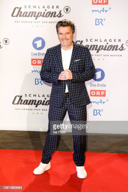 Thomas Anders during the television show 'Schlagerchampions Das grosse Fest der Besten' at Velodrom on January 12 2019 in Berlin Germany