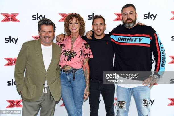 Thomas Anders Jennifer Weist Ignacio Uriarte of the band Lions Head and Paul Wuerdig alias Sido during the X Factor press talk and photo call on...