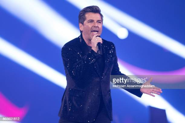 Thomas Anders performs during the show 'Das Internationale Schlagerfest' at Westfalenhalle on October 21 2017 in Dortmund Germany