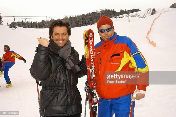 Thomas Anders SkiLehrer ZDFShow Hüttenzauber Seefeld/Tirol/Alpen/ sterreich Schnee Ski Skistock Skilift Winterjacke Schal Sänger Wintersportort...