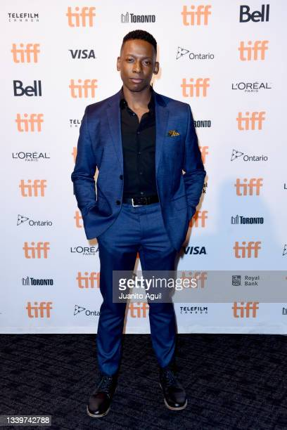 """Thomas Antony Olajide attends the """"Learn To Swim"""" Photo Call during the 2021 Toronto International Film Festival at Cineplex Scotiabank Theatre on..."""