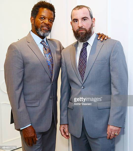 Thomas Arid Chappell and Jesse Raphael attend ARIDO Jewelry Collection presents at Collectrium A Christie's Company on August 20 2015 in New York City
