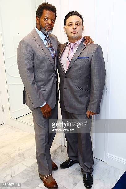 Thomas Arid Chappell and Shlomi Maman attend ARIDO Jewelry Collection presents at Collectrium A Christie's Company on August 20 2015 in New York City