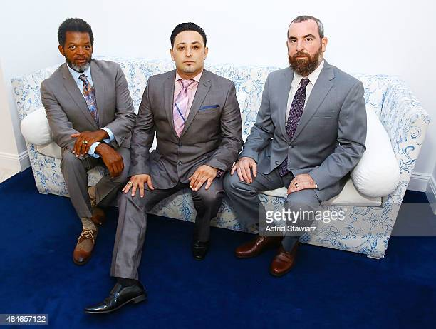 Thomas Arid Chappell Shlomi Maman and Jesse Raphael attend ARIDO Jewelry Collection presents at Collectrium A Christie's Company on August 20 2015 in...