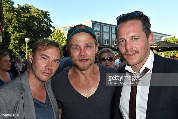 Thomas Arnold Matthias Koeberlin and Johannes Zirner during the Bavaria Film reception during the Munich Film Festival 2016 at Kuenstlerhaus am...
