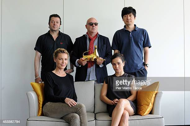 Thomas Arslan Gianfranco Rosi Diao Yinan Connie Nielsen and Alice Braga attend the International Competition Jury Photocall at the 67th Locarno Film...