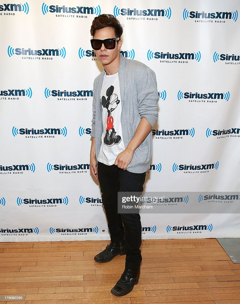 Thomas Augusto of Midnight Red at SiriusXM Studios on July 31, 2013 in New York City.