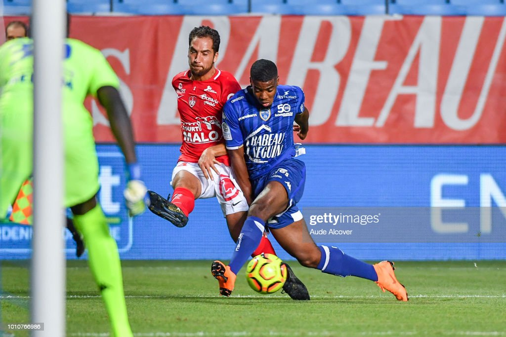 Thomas Ayasse Of Brest And Warren Tchimbembe Of Troyes During The News Photo Getty Images