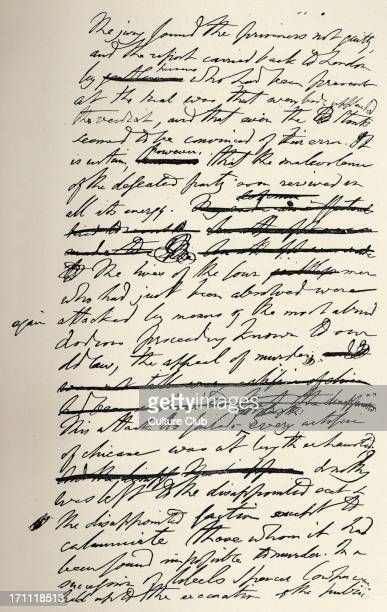 Thomas Babington Macaulay Fascimile page of the manuscript of ' History of England ' by the English writer historian and politician 18001859
