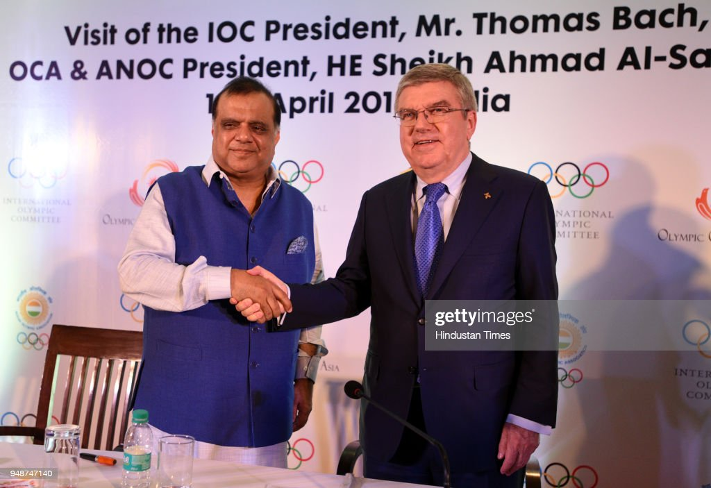 International Olympic Committee President Thomas Bach In India