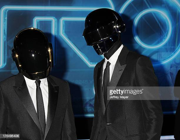 Thomas Bangalter and GuyManuel De HomemChristo of Daft Punk arrive at the World Premiere of TRON Legacy at the El Capitan Theatre on December 11 2010...
