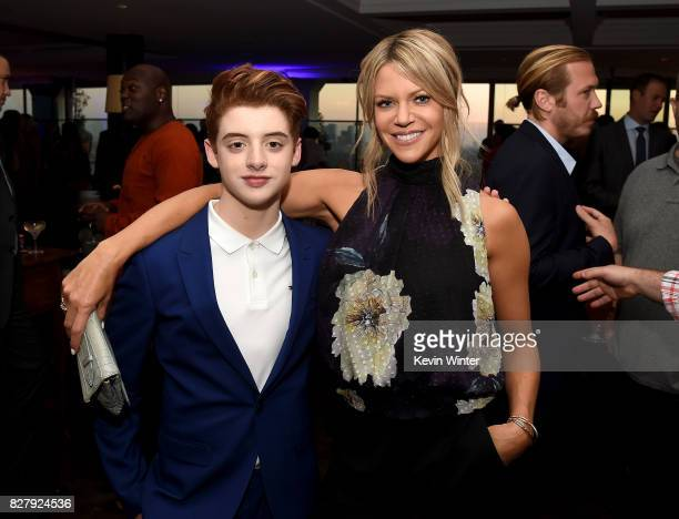 Thomas Barbusca and Kaitlin Olson attend the FOX 2017 Summer TCA Tour after party on August 8 2017 in West Hollywood California