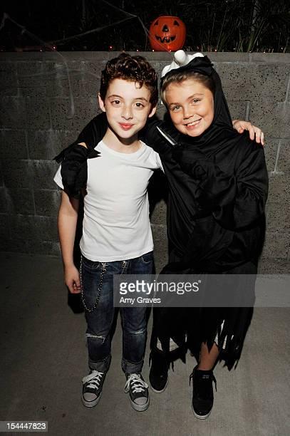 Thomas Barbusca and Tarik Ellinger attend pop singer Temara Melek's UNICEF Party on October 19 2012 in Los Angeles California