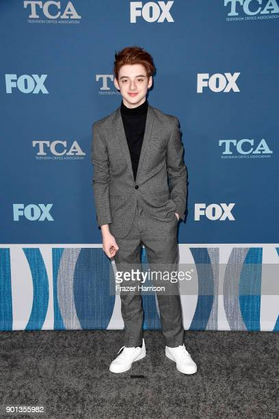 Thomas Barbusca attends the FOX AllStar Party during the 2018 Winter TCA Tour at The Langham Huntington Pasadena on January 4 2018 in Pasadena...