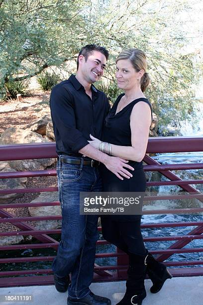 Thomas Beatie and Amber Nicholas are seen during a photo session October 29 2012 in Anthem Arizona