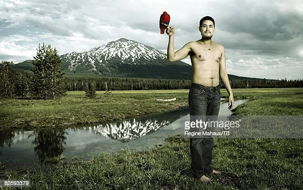 ALTERED Thomas Beatie on July 14 2008 in Bend Oregon