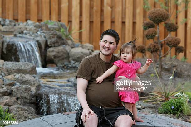 ACCESS*** Thomas Beatie poses with daughter and Susan Juliette Beatie on June 8 2009 in Bend Oregon