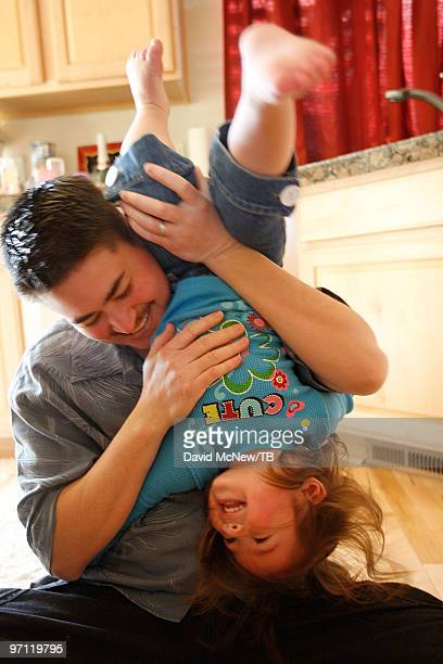 Thomas Beatie spends time with his daughter Susan Juliette Beatie on February 17 2010 in Bend Oregon Thomas a transgender male is 17 weeks pregnant...