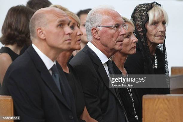 Thomas Beckenbauer and his wife Ilona Franz Beckenbauer and his wife Heidi and Brigitte Beckenbauer attend a memorial service for recentlydeceased...