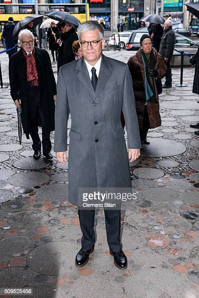 Thomas Bellut attends the Wolfgang Rademann memorial service on February 11 2016 in Berlin Germany