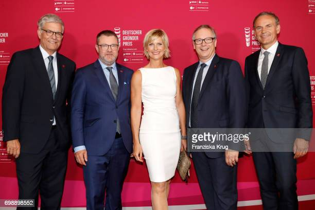 Thomas Bellut Christian Krug Barbara Hahlweg Georg Fahrenschon and Oliver Blume attend the Deutscher Gruenderpreis on June 20 2017 in Berlin Germany
