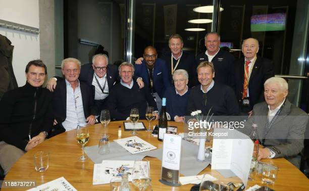 Thomas Bertzhold, Hans-Peter Briegel, Fritz Keller, DFB president, Rudi Bommer, Cacau, Karlheinz Foerster, Bernd Nickel, Guido Buchwald Peter...